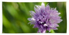 Flowering Chive Beach Towel