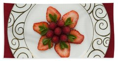 Flowering Fruits Beach Sheet by Anne Gilbert
