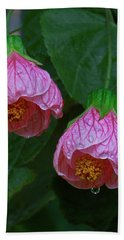 Flowering Maple Beach Towel