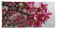 Flowers And Thorns And The Sky Adorned  Beach Towel