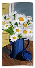 Flowers In A Teapot Beach Towel by Laura Forde
