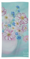 Flowers In A Vase. Inspirations Collection Beach Sheet