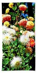 Flowers In Bloom Beach Sheet