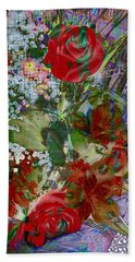 Flowers In Bloom Beach Sheet by Liane Wright
