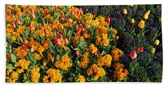 Flowers In Hyde Park, City Beach Towel