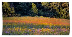 Flowers In The Meadow Beach Towel by Deb Halloran