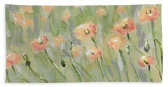 Beach Towel featuring the painting California Poppies by Maria Langgle