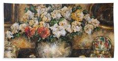 Flowers Of My Heart Beach Sheet