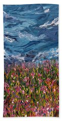 Beach Towel featuring the painting Flowers Of The Field by Meaghan Troup