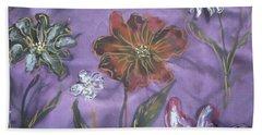 Flowers On Silk Beach Towel
