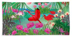 Flowery Lagoon - Limited Edition 1 Of 20 Beach Sheet