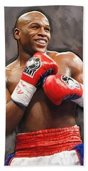 Floyd Mayweather Artwork Beach Towel by Sheraz A