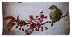 Fluffy Sparrow  Beach Towel by Barbara Orenya