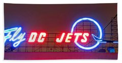 Fly Dc Jets Beach Sheet by Heidi Smith