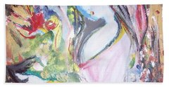 Beach Towel featuring the painting Fly Free by Judith Desrosiers