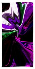 Purple Rain Homage To Prince Original Abstract Art Painting Beach Towel