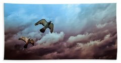 Flying Before The Storm Beach Towel by Bob Orsillo