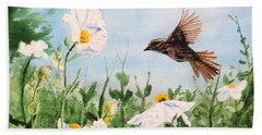 Flying Bird Beach Towel