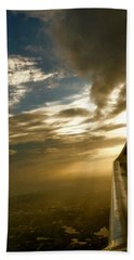Flying Clouds By David Pucciarelli Beach Towel