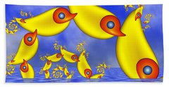 Beach Sheet featuring the digital art Jumping Fantasy Animals by Gabiw Art