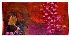 Beach Towel featuring the painting Flying Grapes by Lisa Kaiser