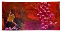 Flying Grapes Beach Towel by Lisa Kaiser