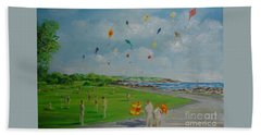 Flying Kites Newport Ri Beach Towel