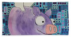Flying Pig Beach Towel
