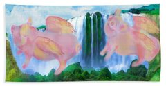 Flying Pigs Beach Towel
