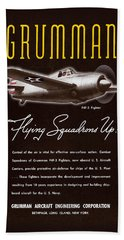 Grumman Flying Squadrons Up Beach Towel