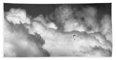 Flying Through The Clouds Beach Towel