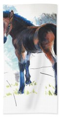 Foal Painting Beach Towel