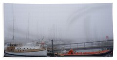 Fog In Marina IIi Beach Towel