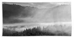Fog In The Valley Beach Towel