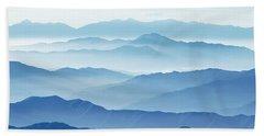 Fog Mountains Nagano Japan Beach Towel