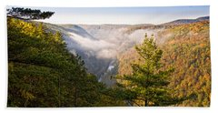 Fog Over The Canyon Beach Towel