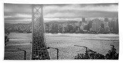 Foggy City Of San Francisco Beach Sheet