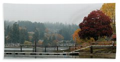 Foggy Day In October Beach Towel by E Faithe Lester