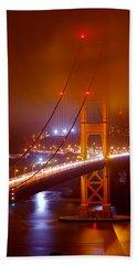 Foggy Golden Gate Beach Sheet