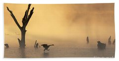 Foggy Landing Beach Towel