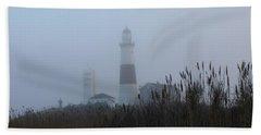Foggy Montauk Lighthouse Beach Sheet