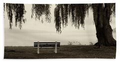 Foggy Morning At Stewart Park Beach Towel