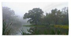 Foggy Morning At The Willows Beach Sheet