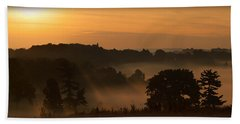 Foggy Morning At Valley Forge Beach Towel