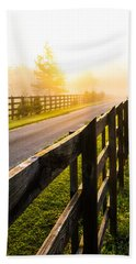 Foggy Morning Beach Towel by Shelby  Young