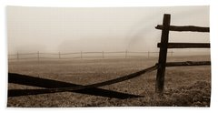 Foggy Pasture Beach Towel
