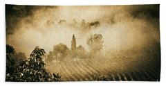 Beach Sheet featuring the photograph Foggy Tuscany by Silvia Ganora
