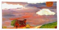 Beach Towel featuring the painting Folk Art by Bobbee Rickard
