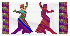 Beach Towel featuring the photograph Folk Dance Sparkle Graphic Decorations by Navin Joshi