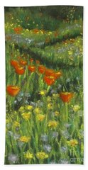Poppy Trail Beach Towel